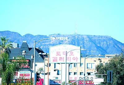 Street Art Photograph - The Hollywood Mountain by Lorna Maza