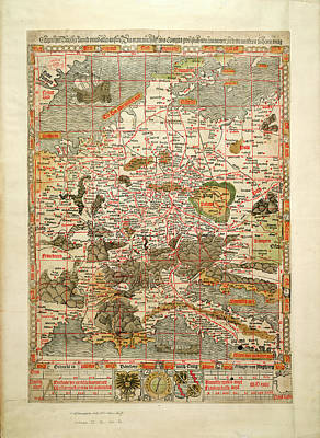 Cartography Photograph - The Holy Roman Empire by British Library