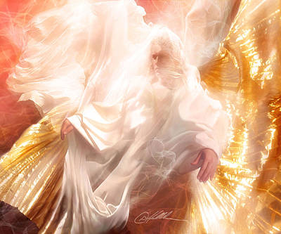 Praise Painting - The Holy Spirit by Danny  Hahlbohm