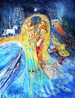 Docking Painting - The Homecoming Kiss After Gustav Klimt by Trudi Doyle