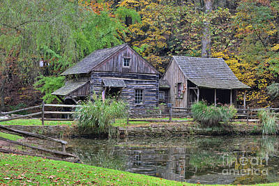 Grist Mill Photograph - The Homestead Country Living by Paul Ward