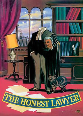 The Honest Lawyer Print by Peter Green
