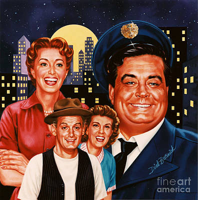 Jackie Gleason Painting - The Honeymooners by Dick Bobnick