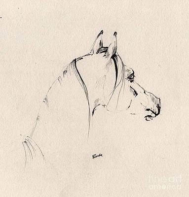 The Horse Sketch Print by Angel  Tarantella
