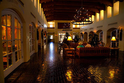 Pastel Photograph - The Hotel Albuquerque Lobby by David Patterson