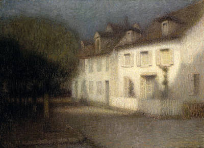 The House Print by Henri Eugene Augstin Le Sidaner
