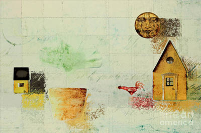Winter Scenes Digital Art - The House Next Door - C04a by Variance Collections