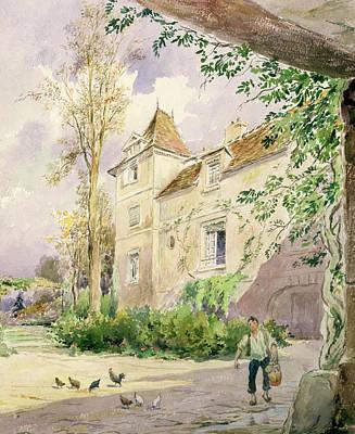Haut Painting - The House Of Armande Bejart by Henri Toussaint