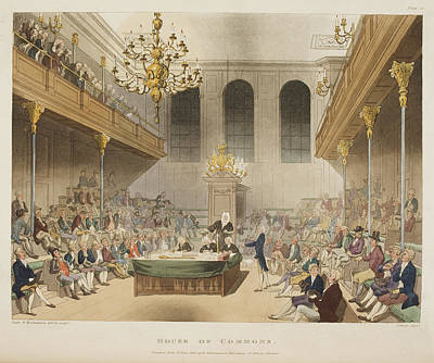 Microcosm Photograph - The House Of Commons by British Library