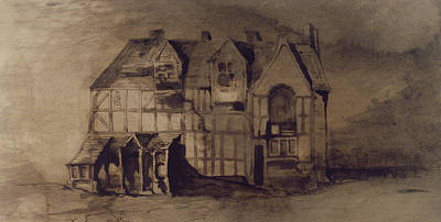 Stratford Drawing - The House Of William Shakespeare by Victor Hugo