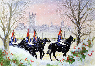 The Household Cavalry Print by Tony Todd