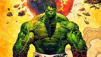 Hulk Painting - The Hulk by Florian Rodarte