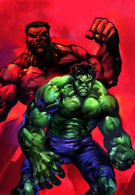 The Hulks Print by Ashraf Ghori