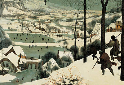 Dogs In Snow Painting - The Hunters In The Snow by Jan the Elder Brueghel