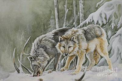 Endangered Species Painting - The Hunters by Nonie Wideman