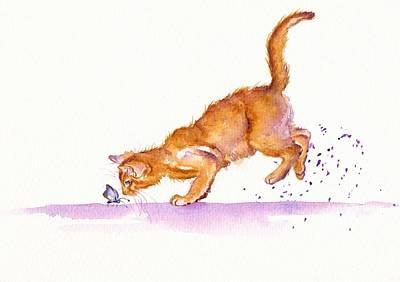 Burmese Python Painting - The Huntress by Debra Hall
