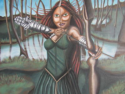 The Huntress Of Mori Original by Carmelita Lake