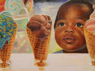 Candy Painting - The Ice Cream Shop by Emily Olson