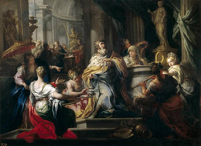 Solomon Painting - The Idolatry Of Solomon by Sebastiano Conca