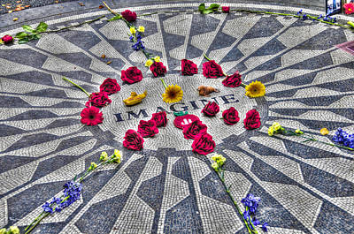 Strawberry Fields Photograph - The Imagine Mosaic At Strawberry Fields Central Park by Randy Aveille