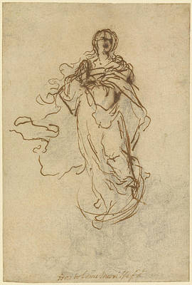 Immaculate Drawing - The Immaculate Conception Bartolomé Esteban Murillo by Litz Collection