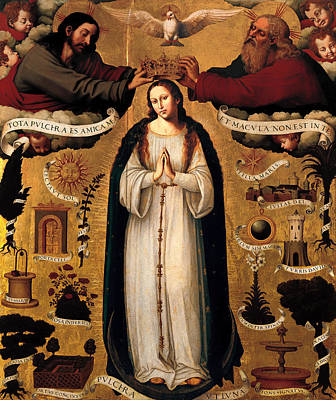 Worship God Painting - The Immaculate Conception by Mountain Dreams
