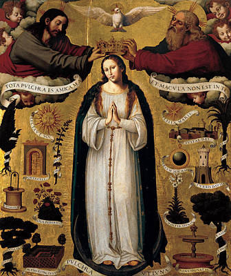 The Immaculate Conception Print by Juan de Juanes