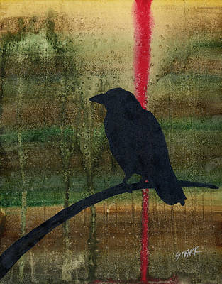 Crow Painting - The Impossibility Of Crows by Jim Stark