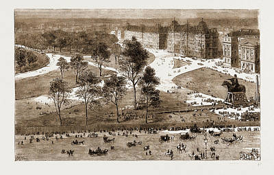 Hyde Park Drawing - The Improvements At Hyde Park Corner, And The Removal by Litz Collection