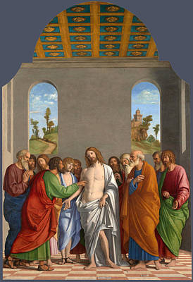 Incredulity Painting - The Incredulity Of Saint Thomas by Giovanni Battista Cima