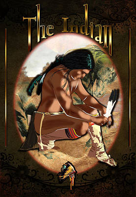 Ipad Design Digital Art - The Indian by Graphicsite Luzern