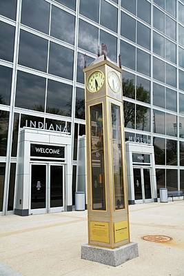 Indianapolis Photograph - The Indiana Steam Clock by Jim West