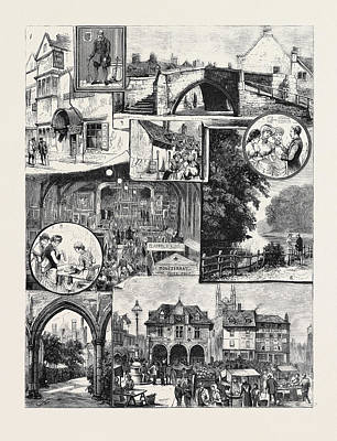 The Industrial Exhibition At Peterborough Print by English School