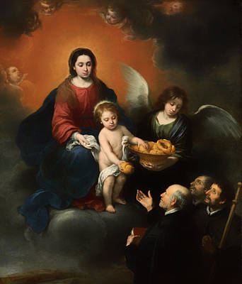 Giving Painting - The Infant Christ Distributing Bread To The Pilgrims by Mountain Dreams