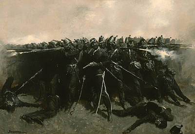 Musket Painting - The Infantry Square by Mountain Dreams