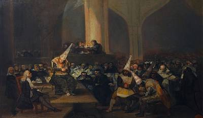 Inquisition Painting - The Inquisition Tribunal by Francisco Goya