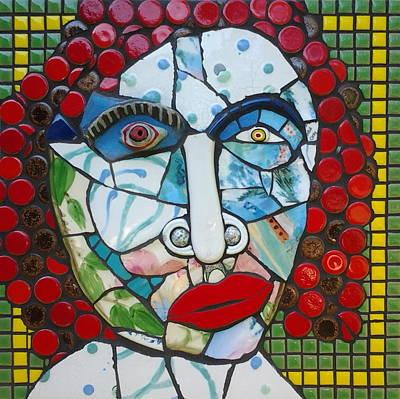 Mosaic Mixed Media - The Inscrutable Dot by Gila Rayberg