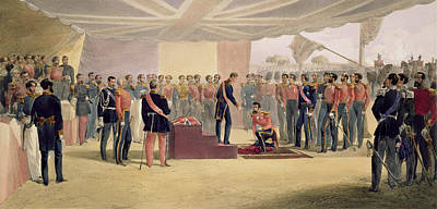 The Investiture Of The Order Print by William 'Crimea' Simpson