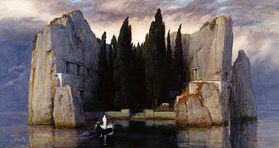 Arnold Painting - The Isle Of The Dead by Arnold Boecklin