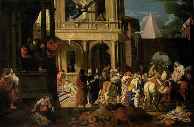 The Israelites Leaving Egypt Print by Johann Heiss