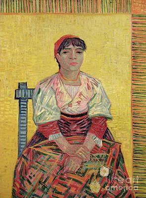 The Italian  Agostina Segatori Print by Vincent Van Gogh