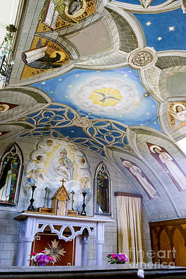 Christian Sacred Photograph - The Italian Chapel Mural Orkney by Tim Gainey