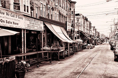 The Italian Market In Philadelphia Print by Bill Cannon
