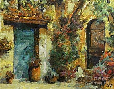 Landscape Painting - The Italian Patio by Dragica  Micki Fortuna