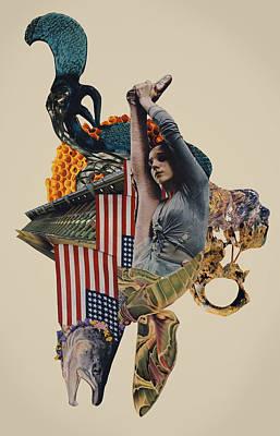American Flag Mixed Media - The Jackal by Joe Castro