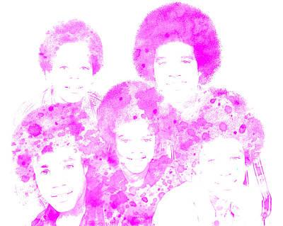 Jackson 5 Digital Art - The Jackson 5 by Brian Reaves