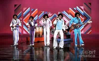 Jackson 5 Digital Art - The Jackson 5  by Marvin Blaine