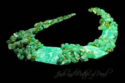 Semi Precious Gemstones Photograph - The Jade Collar by Diana Angstadt