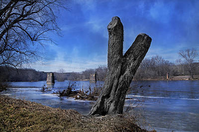 Virginia Photograph - The James River One by Betsy Knapp
