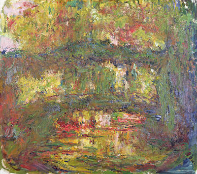The Japanese Bridge At Giverny Print by Claude Monet